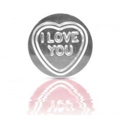 Srebrne Serduszko I Love You