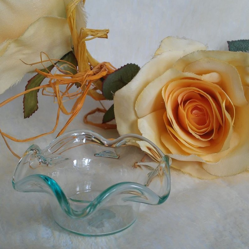 szklany świecznik