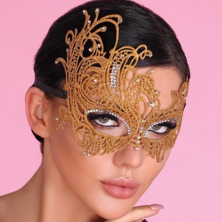 """Maska """"karnawałowa"""" golden"""
