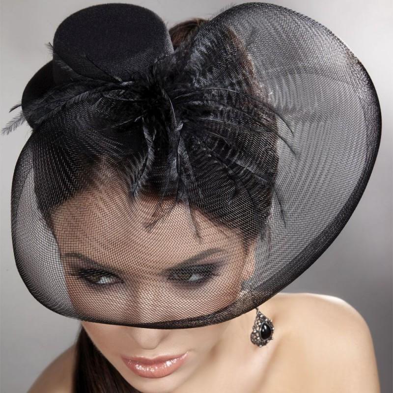 Romantycznty mini top hat
